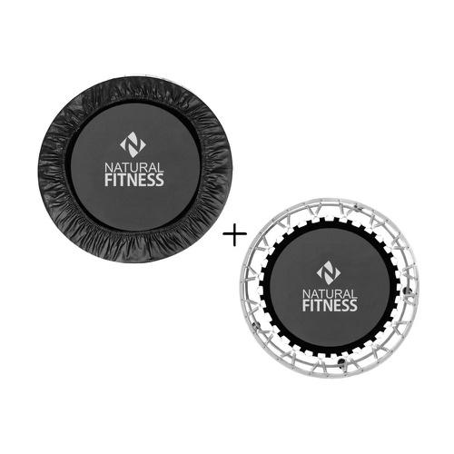 Kit Mini Jump Preto + Capa para Jump - Natural Fitness