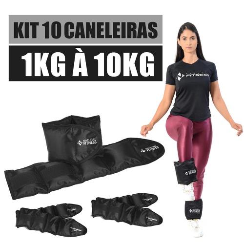 Kit Caneleira de Peso 1kg a 10kg Academia e Ginastica - Natural Fitness