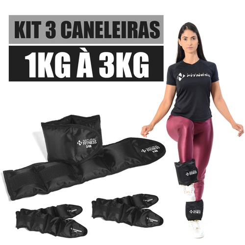 Kit Caneleira De peso 1kg á 3kg Para Treino Funcional academia
