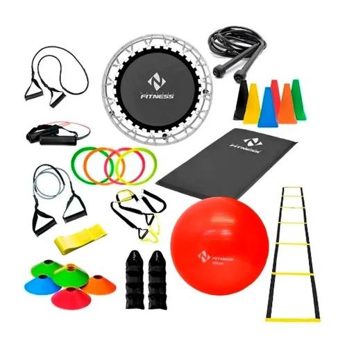 Kit Ginástica Em Casa Treinamento Funcional Total - Natural Fitness