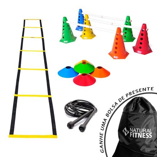 Kit Funcional Agilidade 6 - 18 Itens - Natural Fitness