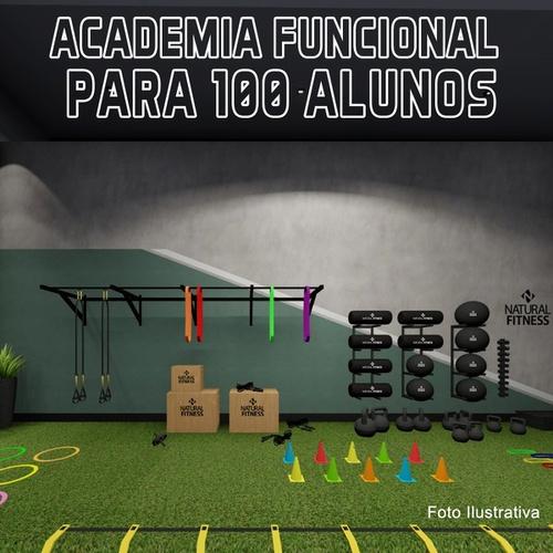 Academia de Treino Funcional Sem Gaiola Para 100 Alunos/Mês - Natural Fitness