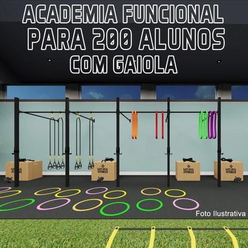 Academia de Treino Funcional Com Gaiola Para 200 Alunos - Natural Fitness