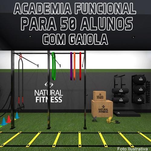Academia de Treino Funcional Com Gaiola Para 50 Alunos - Natural Fitness