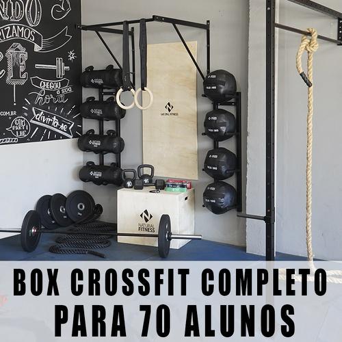 Box Academia Para Treino Funcional e Crossfit Com Gaiola Para 40 Alunos