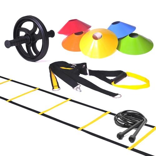 Kit Escada Agilidade + TRX + Corda de Pular + Roda + 10 Chapéu Chinês - Natural Fitness