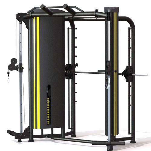 Aparelho Crossover Angular c/ Smith para Musculação - Uranos - Natural Fitness