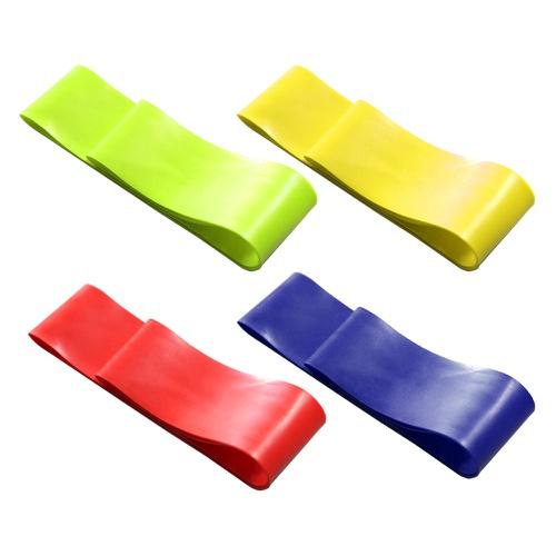 Kit 4 Elásticos Mini Band Faixa de Exercícios De Pilates