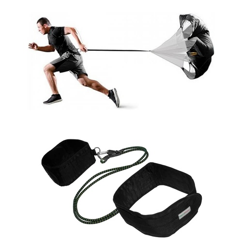 Kit Paraquedas Para Corrida + Cinto de Tração Para Atletismo