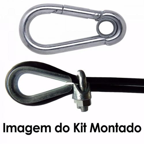 Kit Academia - 50m Cabo de Aço + Acessórios - Natural Fitness