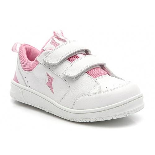 Tênis infantil - 1000/02 - Branco com rosa - NATURAL STEP