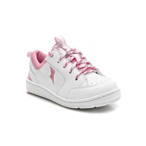 Tênis infantil - 1001/02 - Branco e rosa - NATURAL STEP