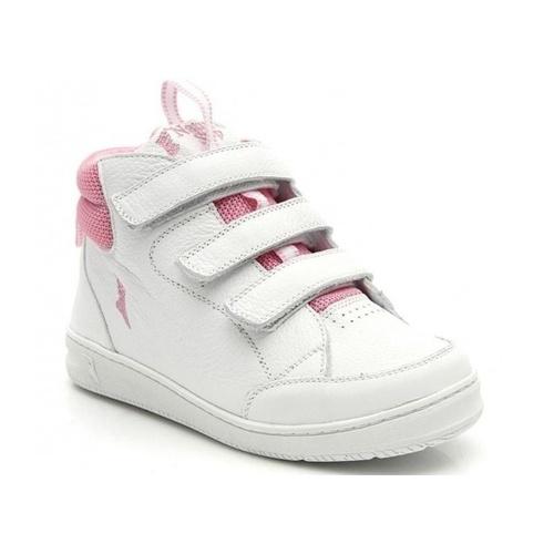 Bota infantil - 5000/02 - Branco com rosa - NATURAL STEP