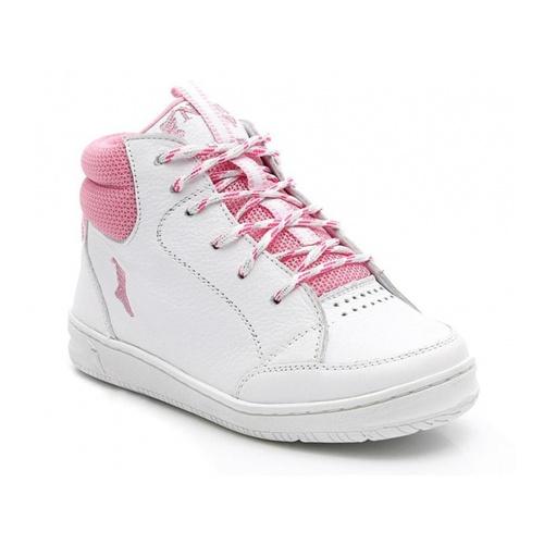Bota infantil - 5001/02 - Branco com rosa - NATURAL STEP