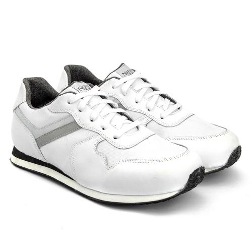 Tênis terapêutico masculino 7001/06 - Branco - NATURAL STEP