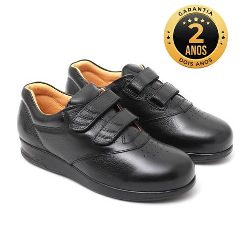Sapato feminino para pés diabéticos - Ginna - Pret... - NATURAL STEP