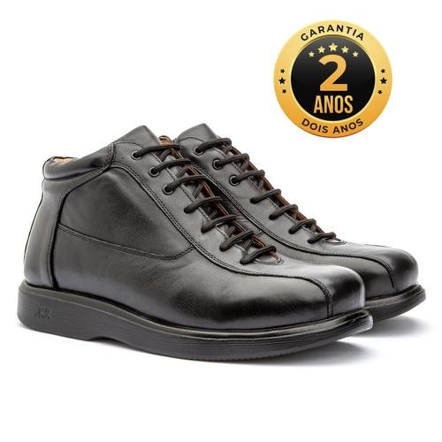 Bota masculina - Mônaco - Preto - NATURAL STEP