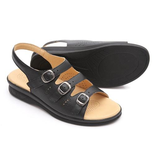 Sandália feminina - Suzy - Preto - NATURAL STEP