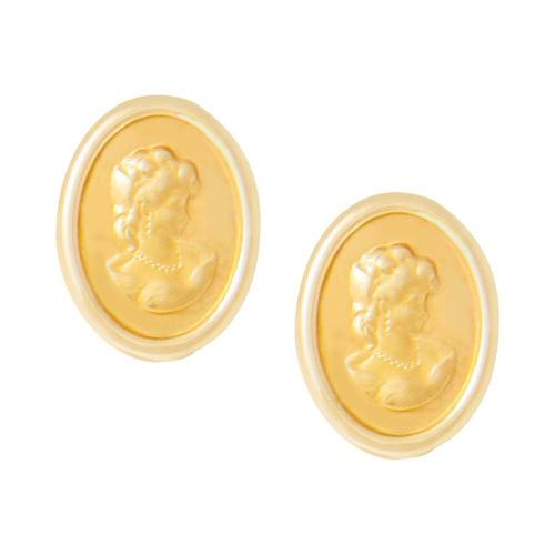 Brinco Feminino Clássico Modelo Dama Ouro 18k - NORTHOFF - Sonhos em Ouro 18k!
