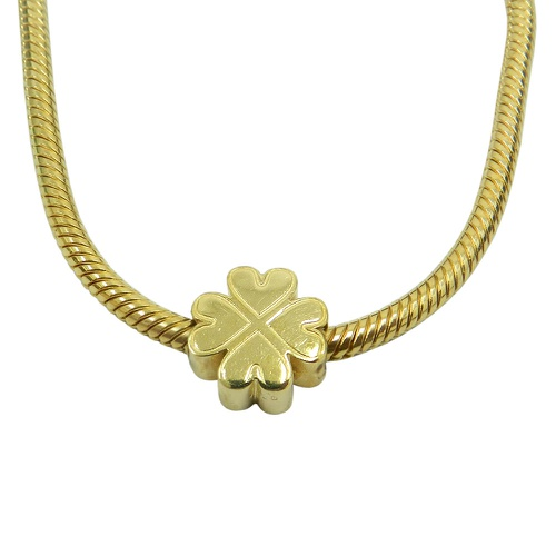 Pingente Pandora em ouro 18k Trevo de 4 Folhas