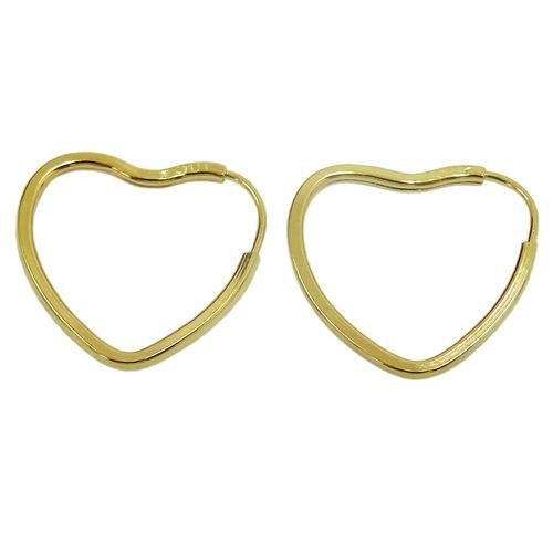 Argola em Ouro 18k Coração