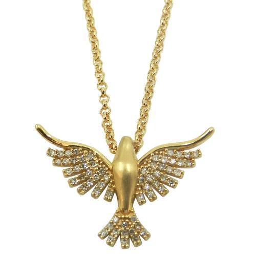 Pingente em Ouro 18k Divino Espírito Santo com Brilhantes
