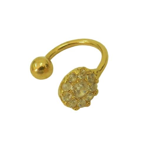 Piercing Flor em Ouro 18k 0,750 com Zircônias