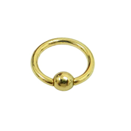 Piercing em Ouro 18k Argola de Bolinha