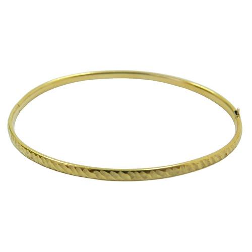 Pulseira em ouro 18k bracelete com trava de segurança