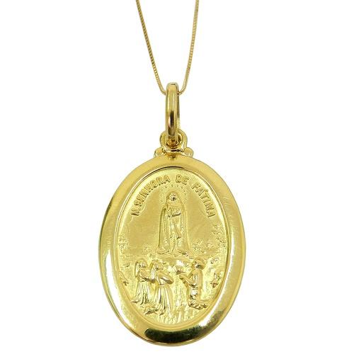 Medalha em Ouro 18k Grande N.Senhora de Fátima