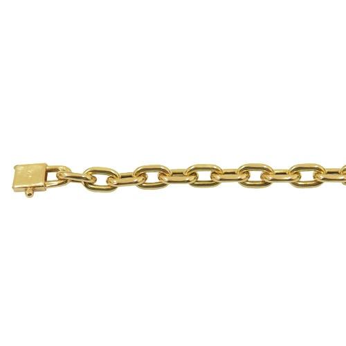 Pulseira em Ouro Masculina Cartier Oca