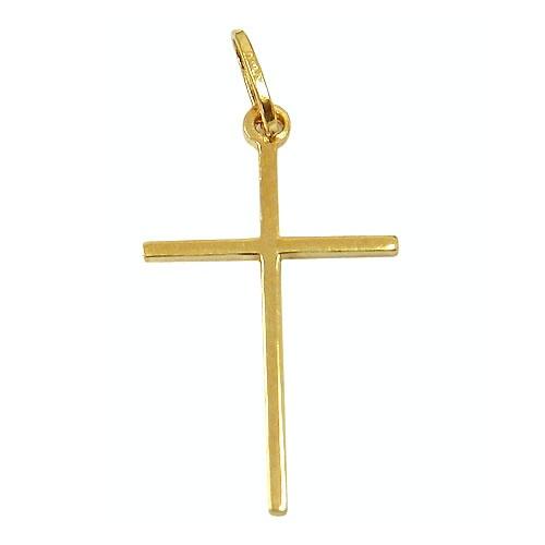 Pingente Cruz de Ouro 18k Barato