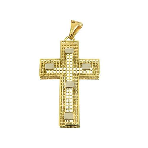 Crucifixo Vazado em Ouro 18K Médio