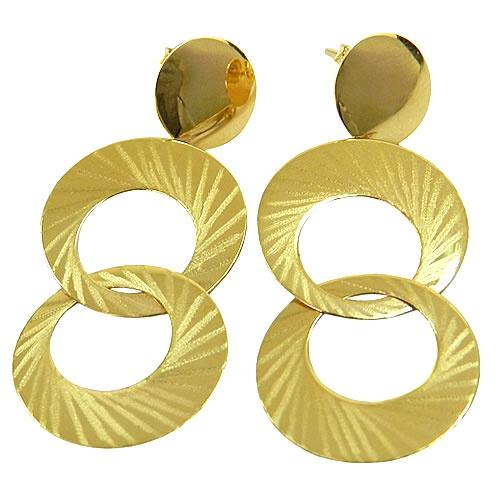 Maxi Brinco Circular de Ouro 18K