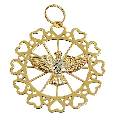 Medalha Divino Espírito Santo Ouro 18K