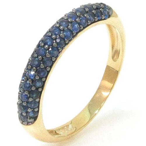 Anel em ouro com Safira Azul