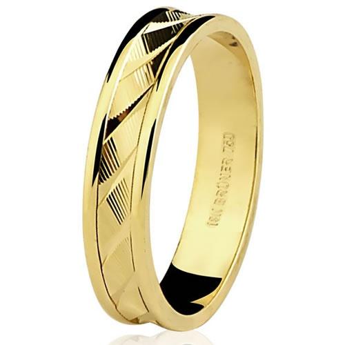 Aliança de Casamento em ouro Diamantada