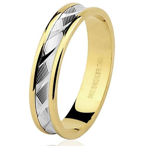 Aliança Diamantada em ouro