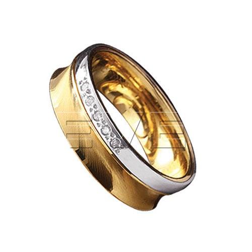 Aliança Anatonica de ouro com Brilhantes