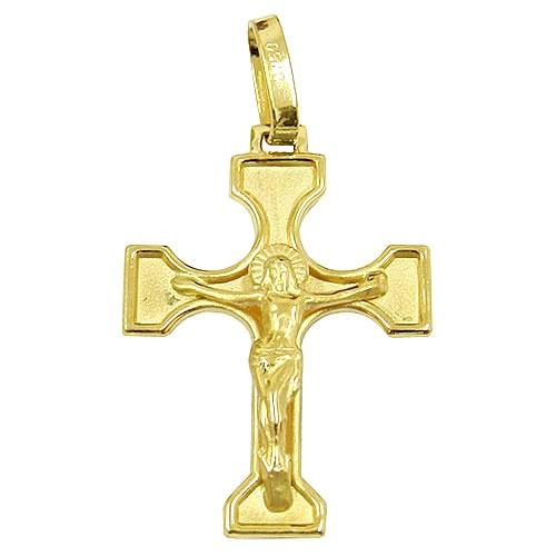 Crucifixo em Ouro 18k com Jesus Crucificado
