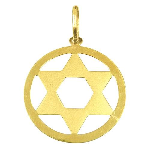 Pingente Estrela Davi em Ouro Pequena