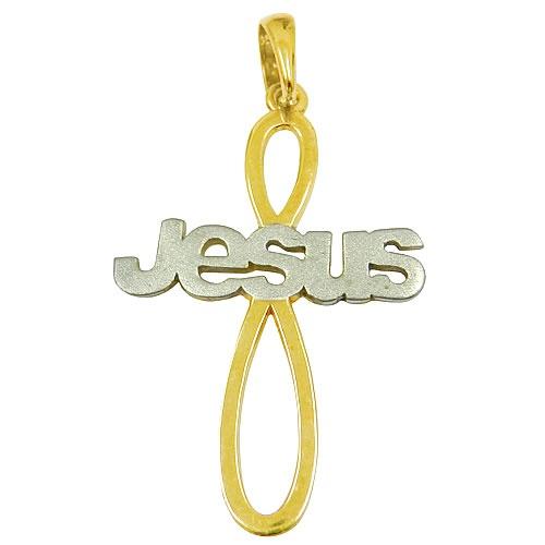Crucifixo em ouro Jesus