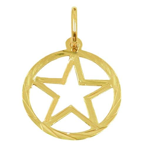 Pingente Estrela Salomão Ouro Amarelo