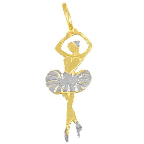 Pingente Feminino em Ouro 18K Bailarina