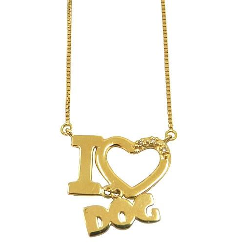 Gargantilha Veneziana I Love Dog