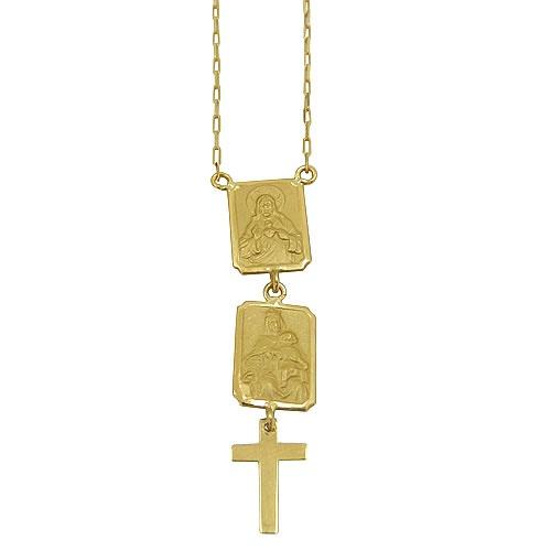 Escapulário Nossa Senhora, Jesus Cristo e a Santa Cruz