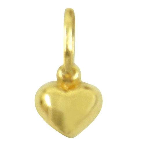 Pingente Feminino de Coração em ouro 18k