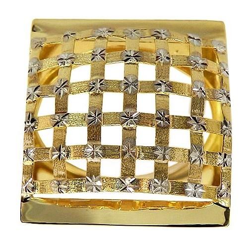 Maxi Anel Xadrez de Ouro 18K 0750