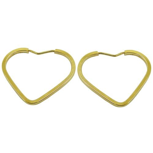 Argola em Ouro Coração