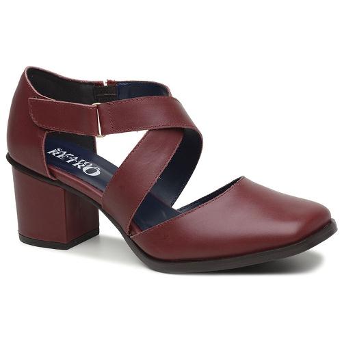 Sapato Boneca Bordô - Milão - 400-03 - Sapato RetrÔ